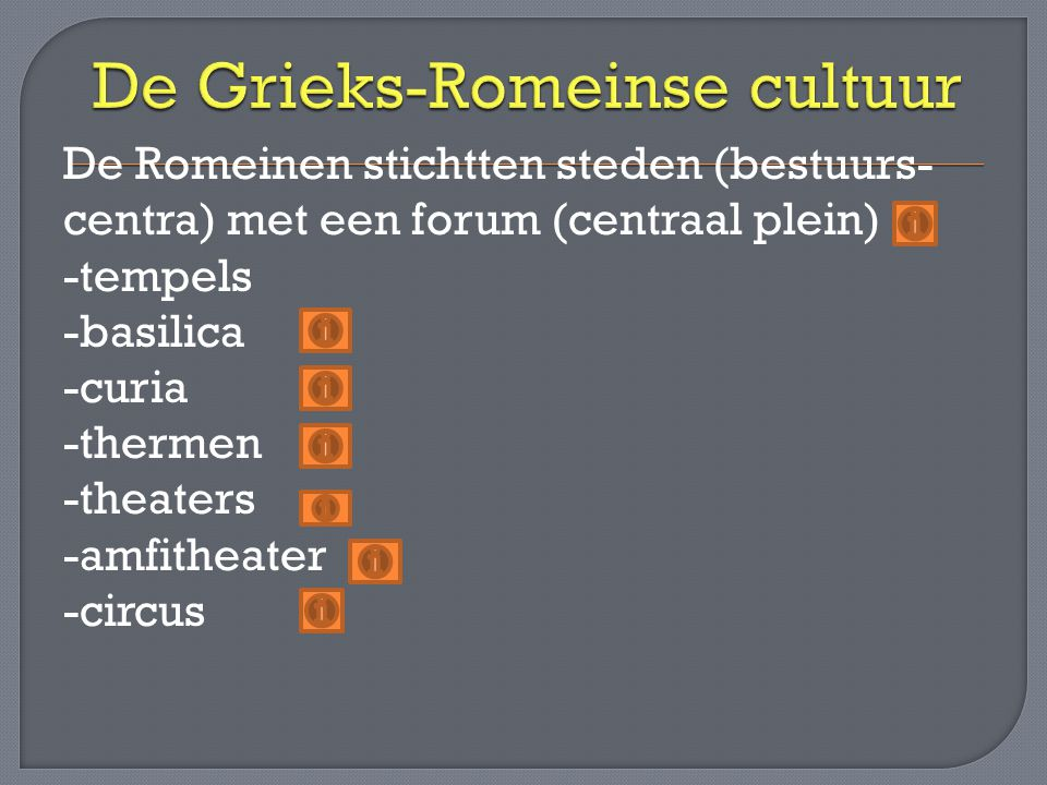 De Grieks-Romeinse cultuur