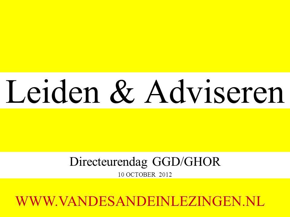Directeurendag GGD/GHOR 10 OCTOBER 2012