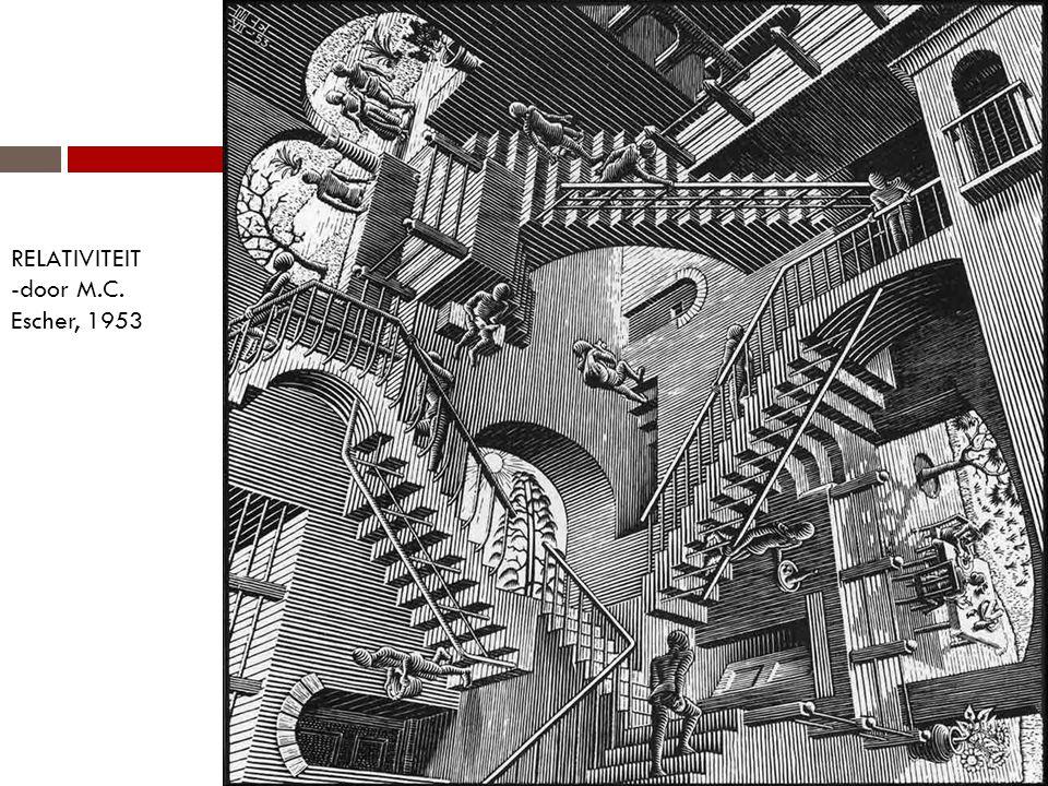 RELATIVITEIT -door M.C. Escher, 1953