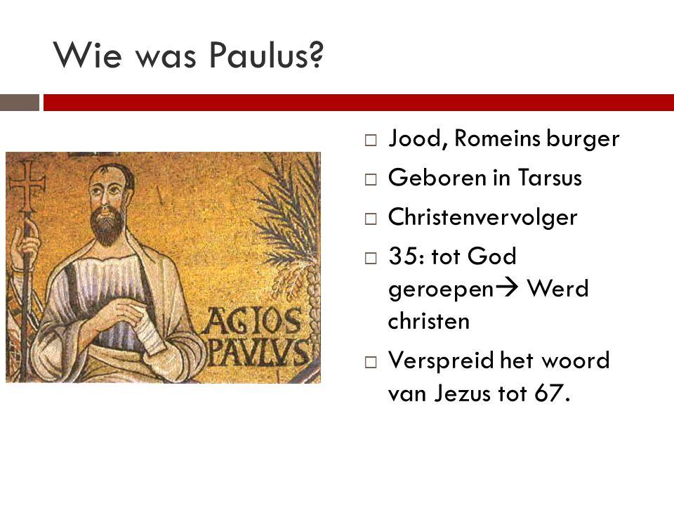 Wie was Paulus Jood, Romeins burger Geboren in Tarsus