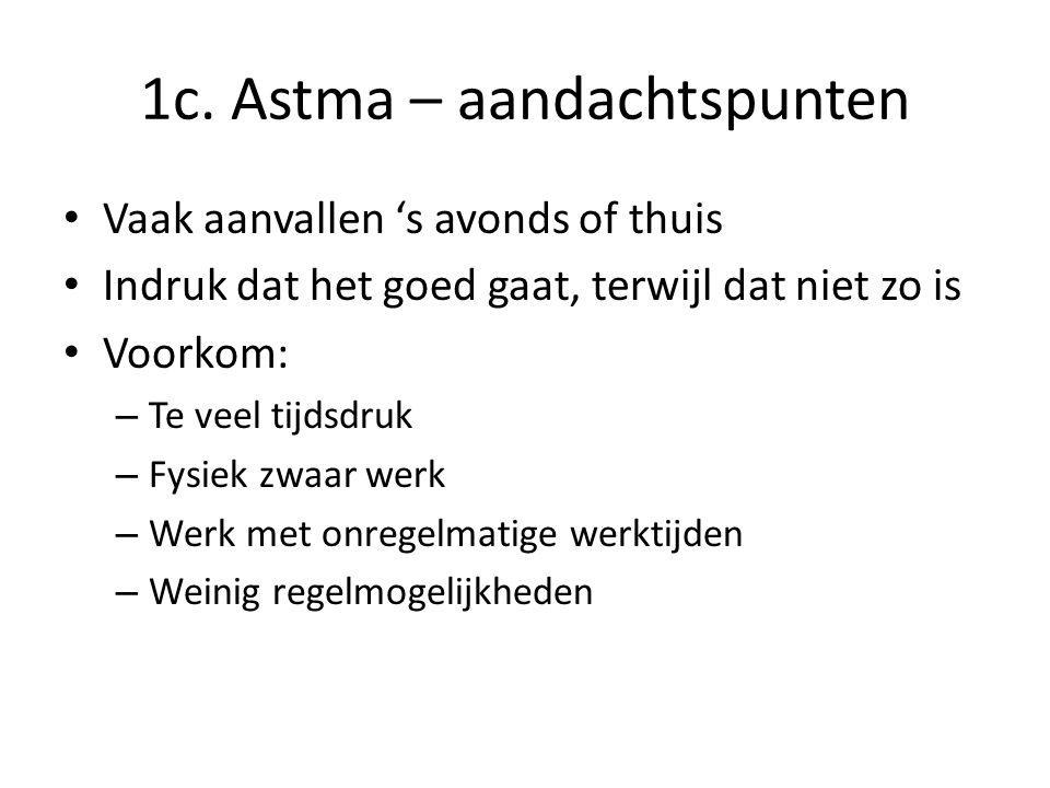 1c. Astma – aandachtspunten