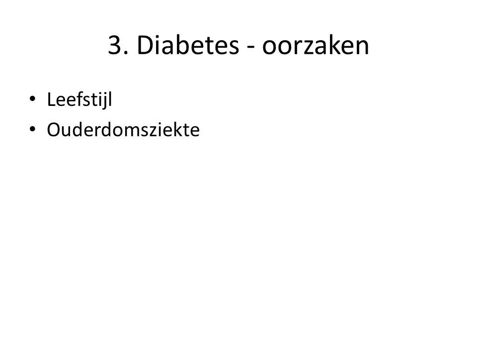 3. Diabetes - oorzaken Leefstijl Ouderdomsziekte