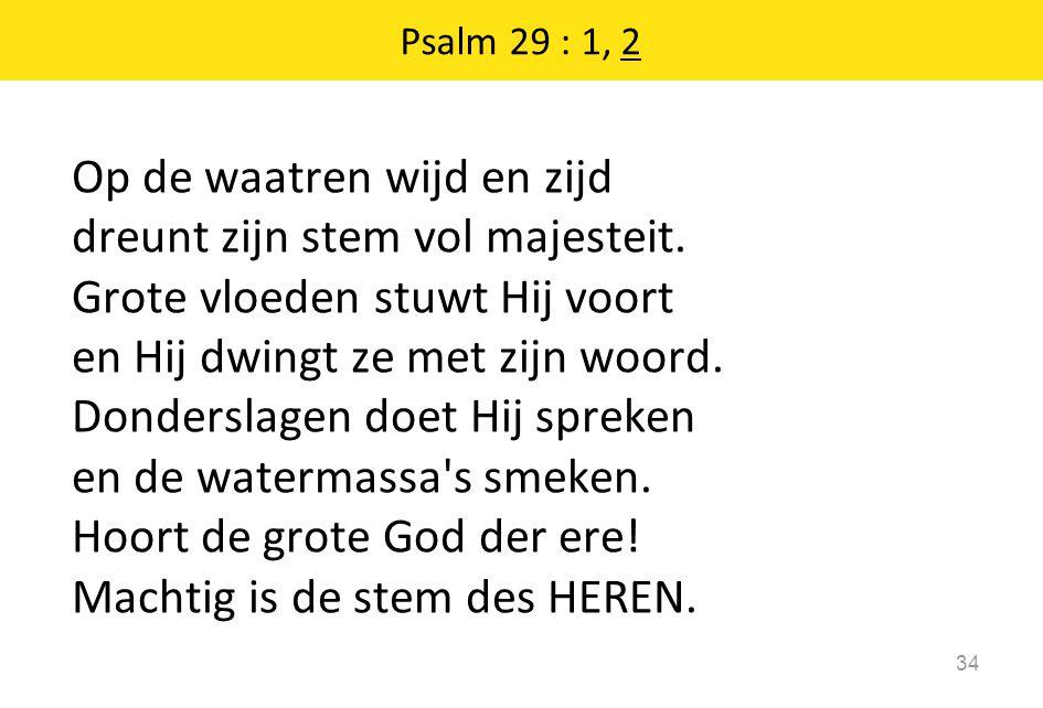 Psalm 29 : 1, 2