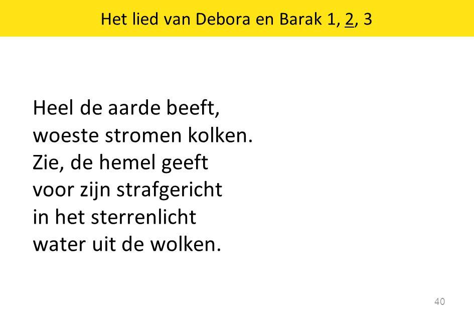 Het lied van Debora en Barak 1, 2, 3