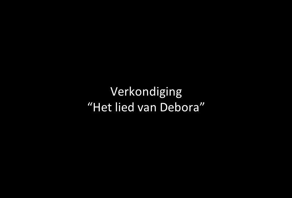Verkondiging Het lied van Debora