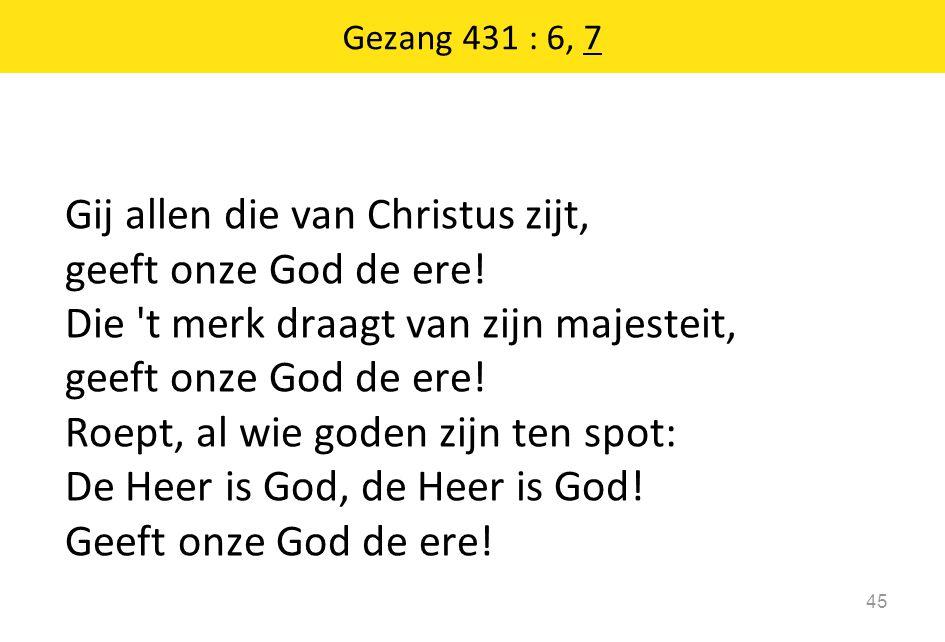 Gezang 431 : 6, 7