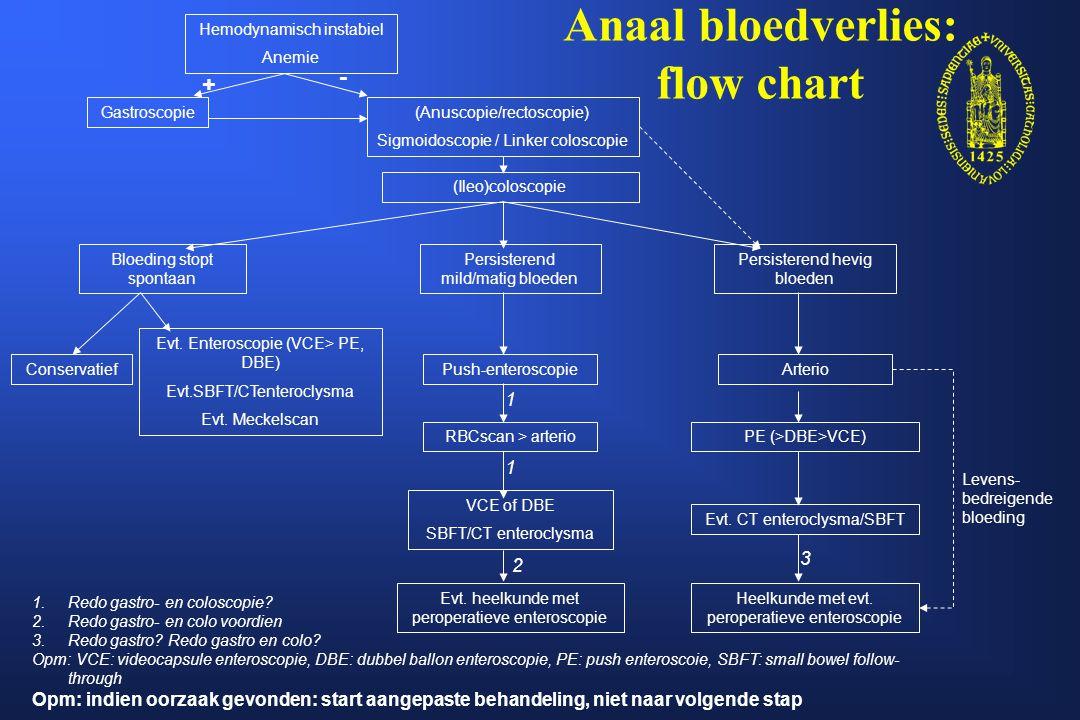 Anaal bloedverlies: flow chart