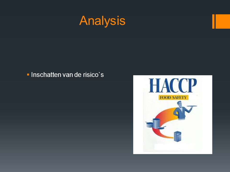 Analysis Inschatten van de risico`s