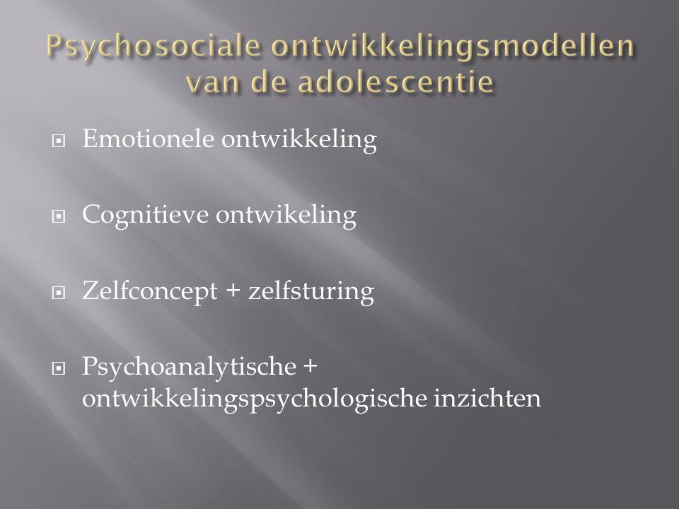 Psychosociale ontwikkelingsmodellen van de adolescentie