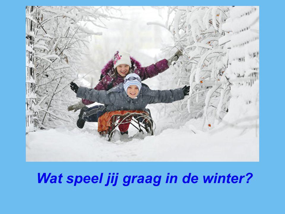 Wat speel jij graag in de winter