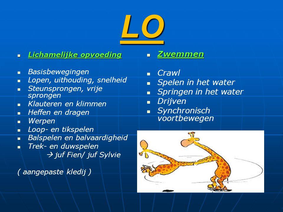 LO Zwemmen Crawl Spelen in het water Springen in het water Drijven