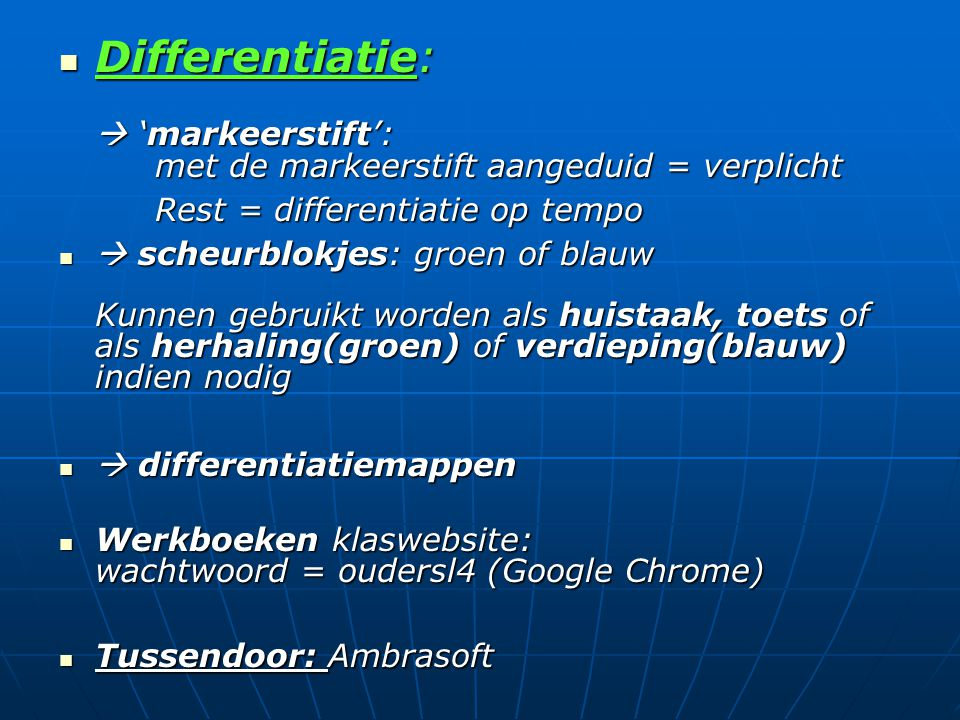 Differentiatie:  'markeerstift':