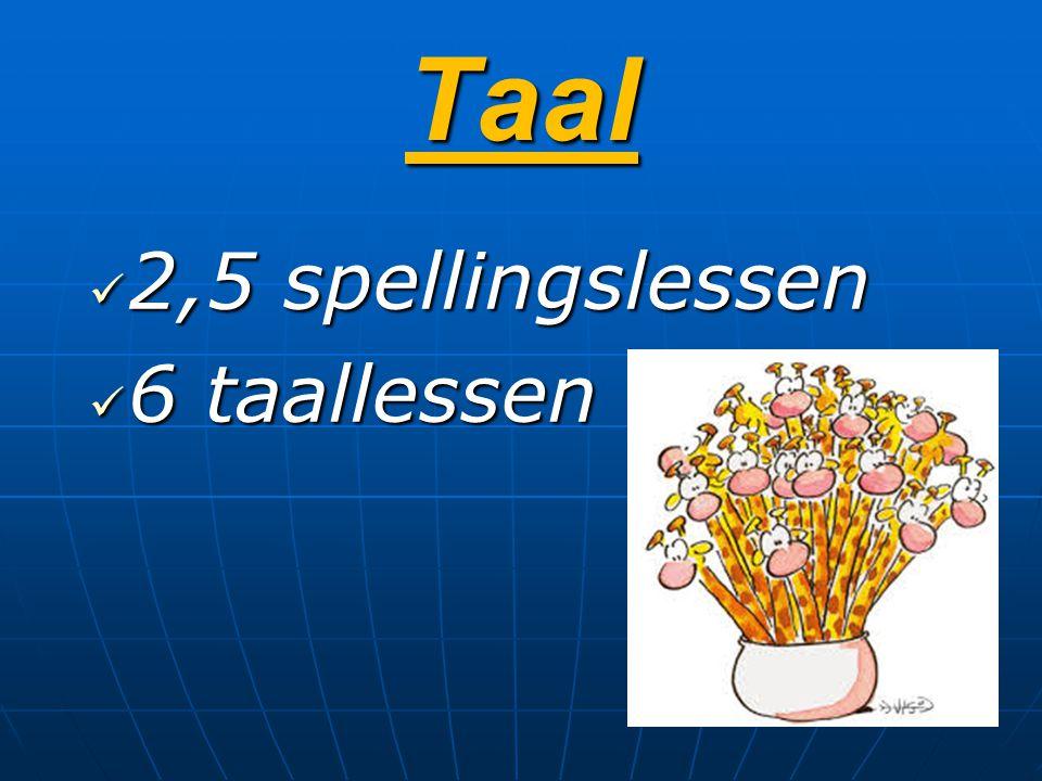 Taal 2,5 spellingslessen 6 taallessen