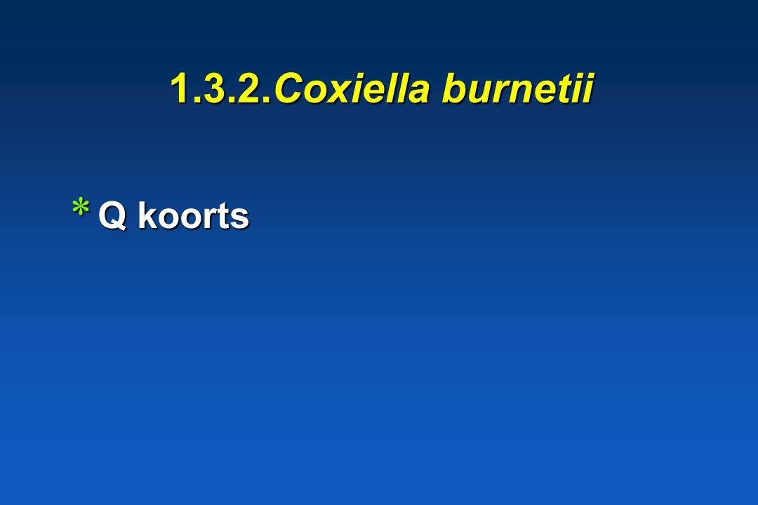 1.3.2.Coxiella burnetii Q koorts