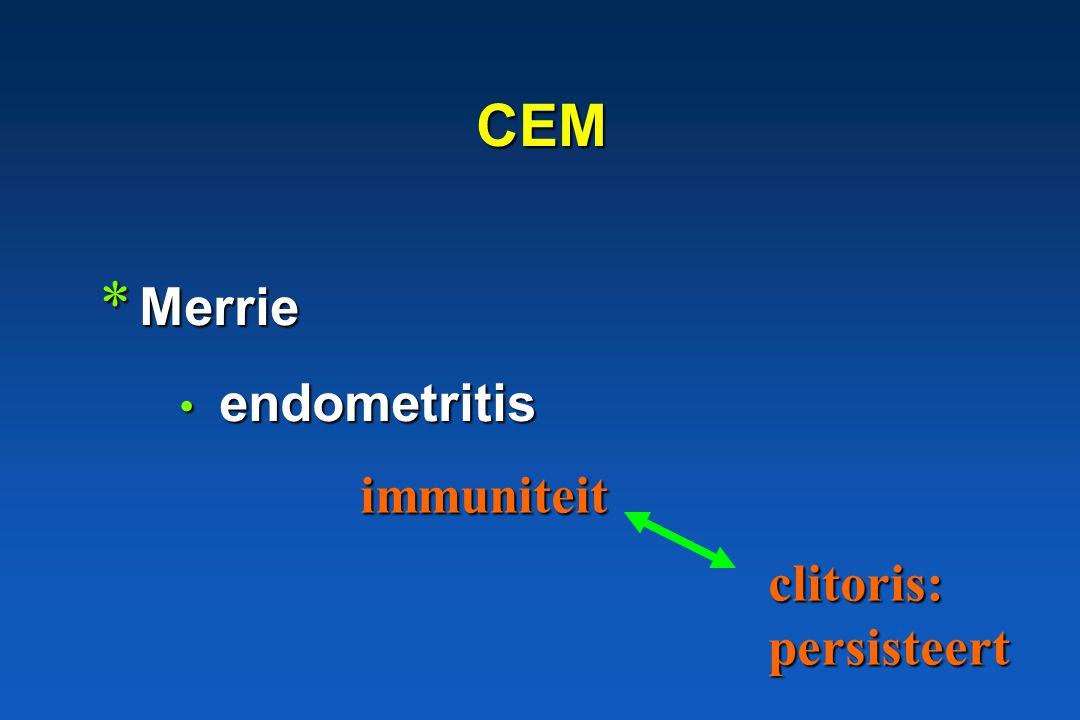 CEM Merrie endometritis immuniteit clitoris: persisteert
