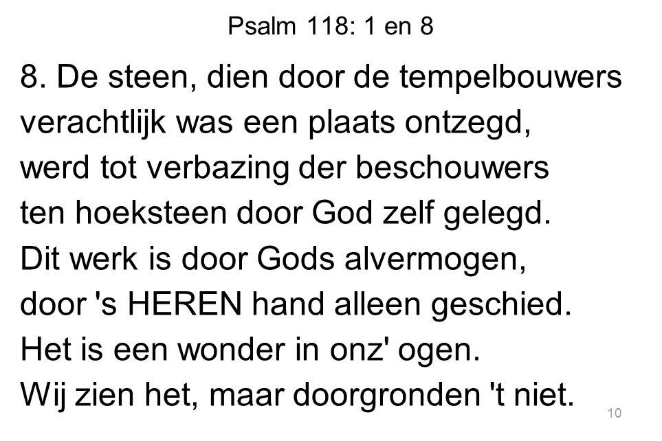Psalm 118: 1 en 8