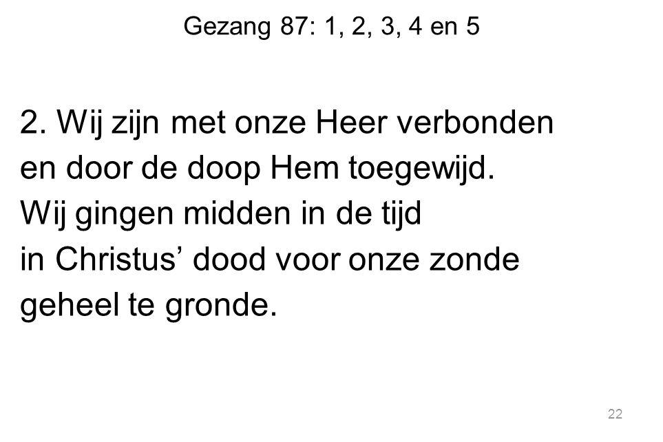 Gezang 87: 1, 2, 3, 4 en 5