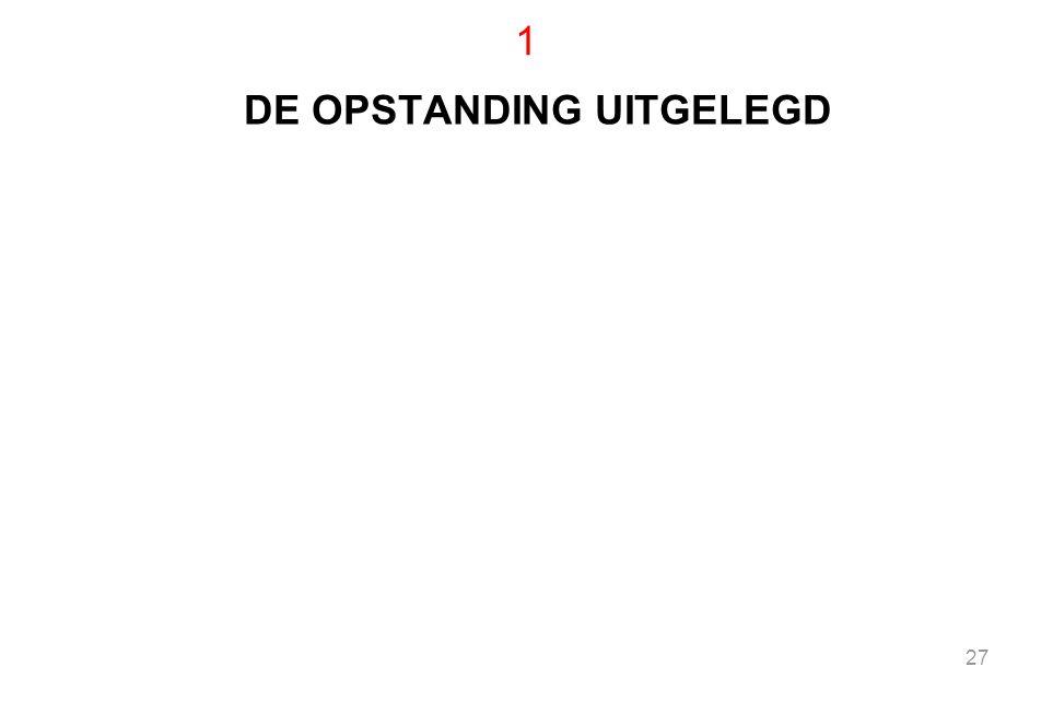 DE OPSTANDING UITGELEGD