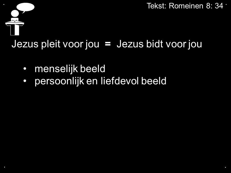 Jezus pleit voor jou = Jezus bidt voor jou menselijk beeld