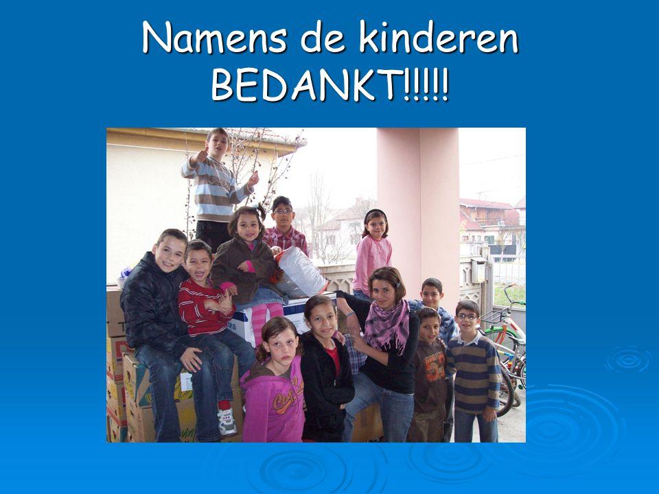 Namens de kinderen BEDANKT!!!!!