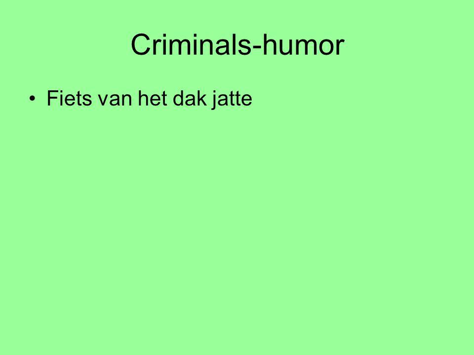 Criminals-humor Fiets van het dak jatte