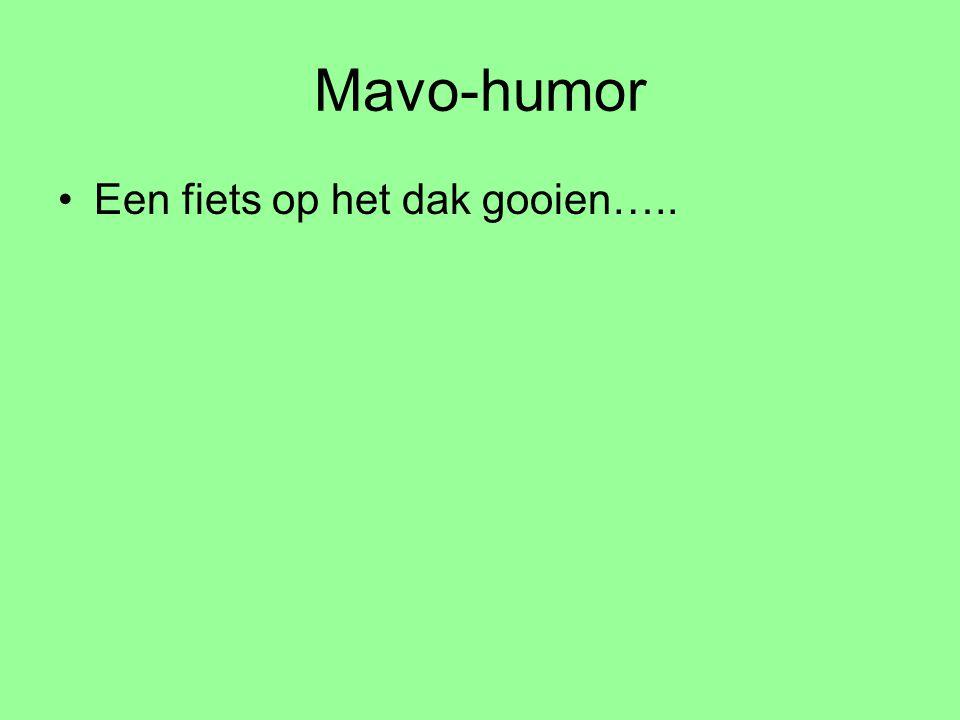Mavo-humor Een fiets op het dak gooien…..