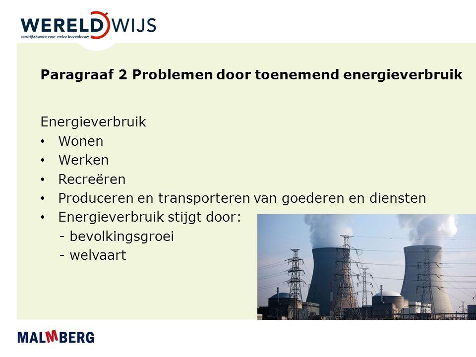 Paragraaf 2 Problemen door toenemend energieverbruik