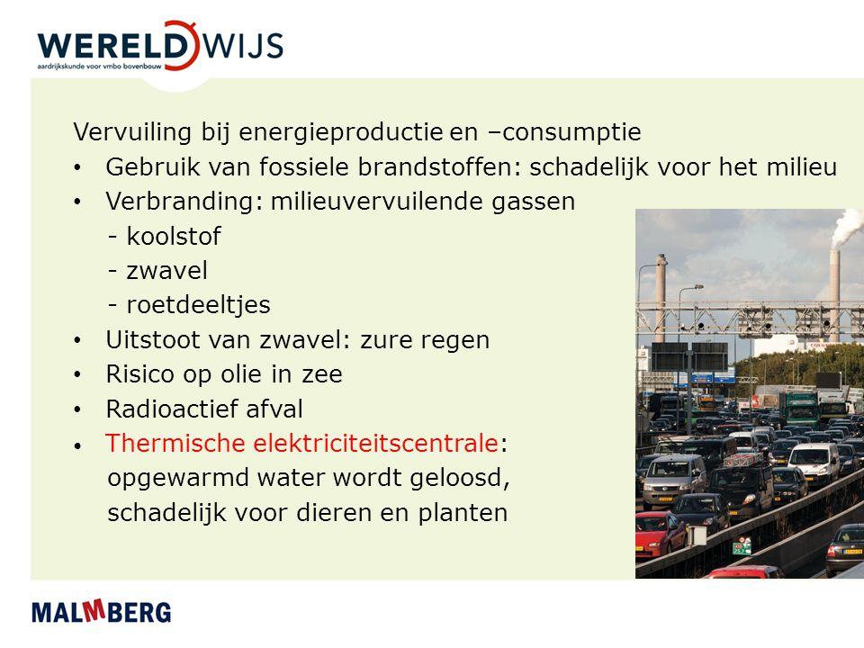 Vervuiling bij energieproductie en –consumptie