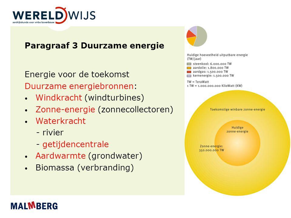 Paragraaf 3 Duurzame energie
