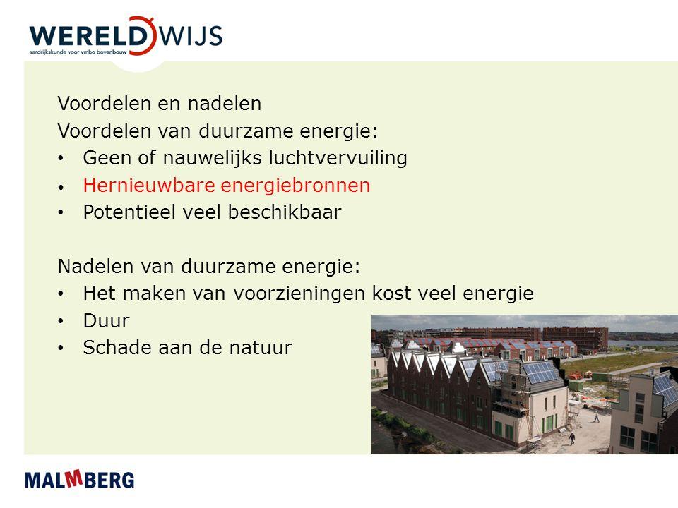 Voordelen van duurzame energie: Geen of nauwelijks luchtvervuiling