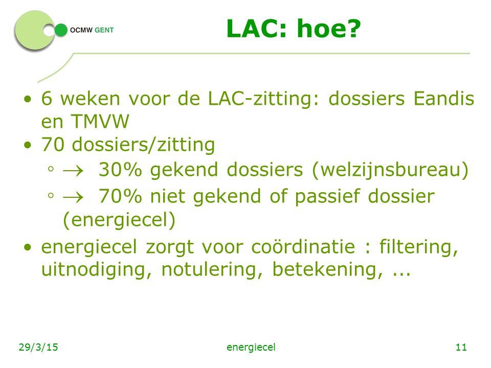 LAC: hoe  30% gekend dossiers (welzijnsbureau)