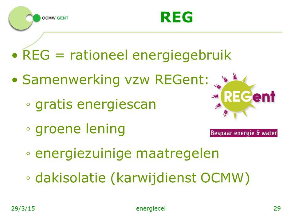 REG REG = rationeel energiegebruik Samenwerking vzw REGent: