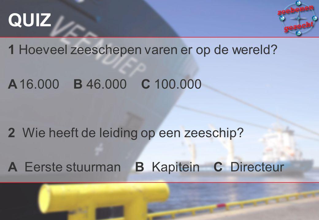QUIZ 1 Hoeveel zeeschepen varen er op de wereld