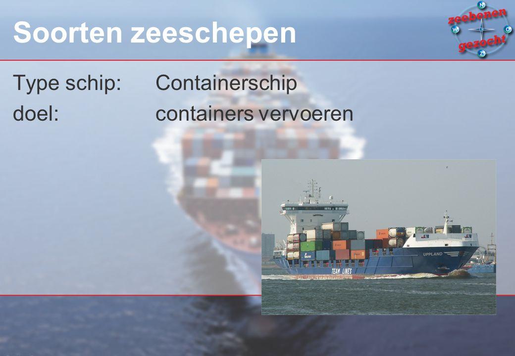 Soorten zeeschepen Type schip: Containerschip
