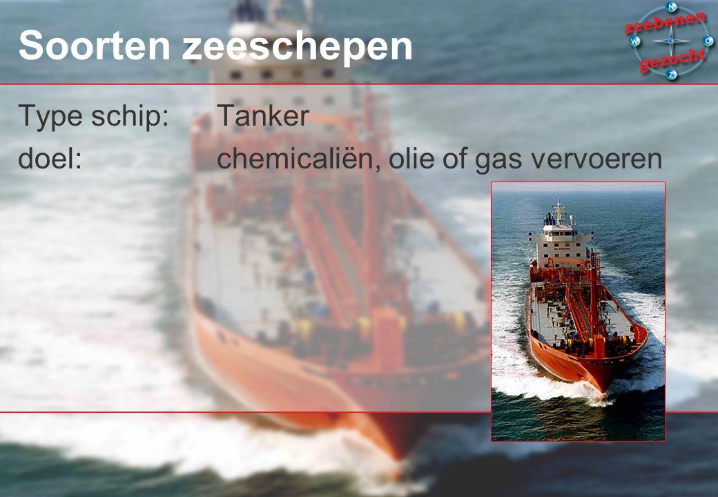 Soorten zeeschepen Type schip: Tanker