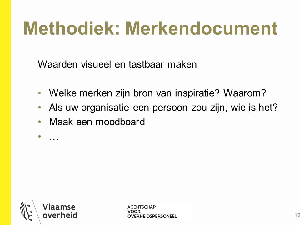 Methodiek: Merkendocument