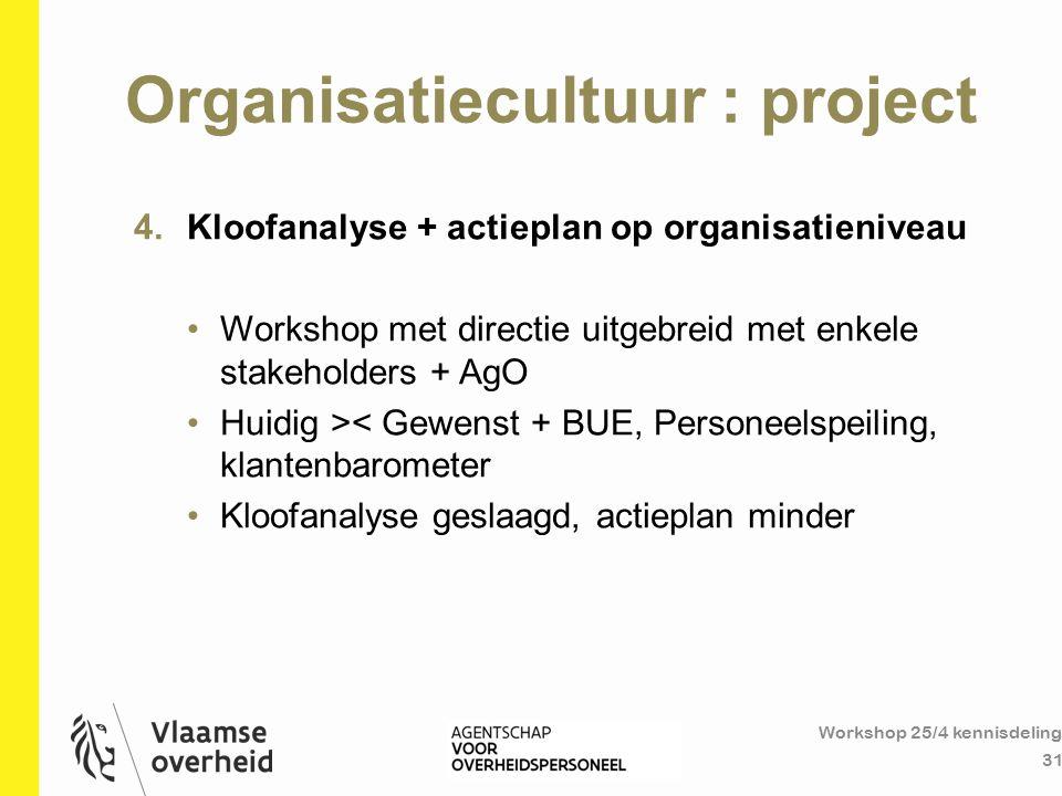 Organisatiecultuur : project