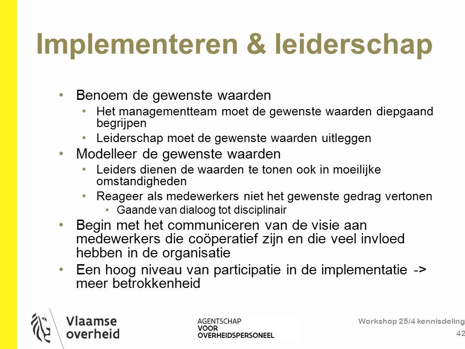 Implementeren & leiderschap