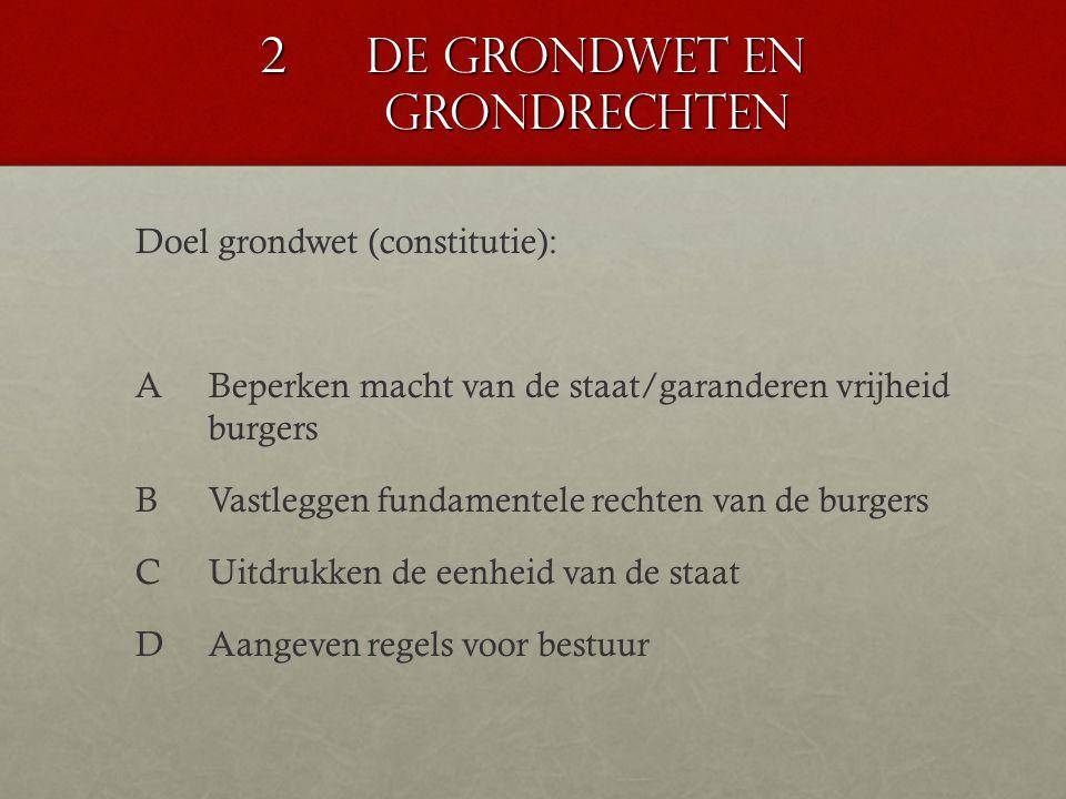 2 De grondwet en grondrechten