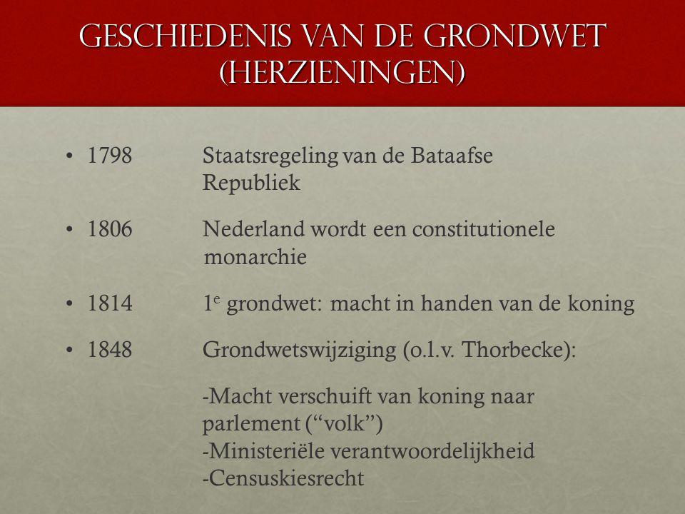 Geschiedenis van de grondwet (herzieningen)