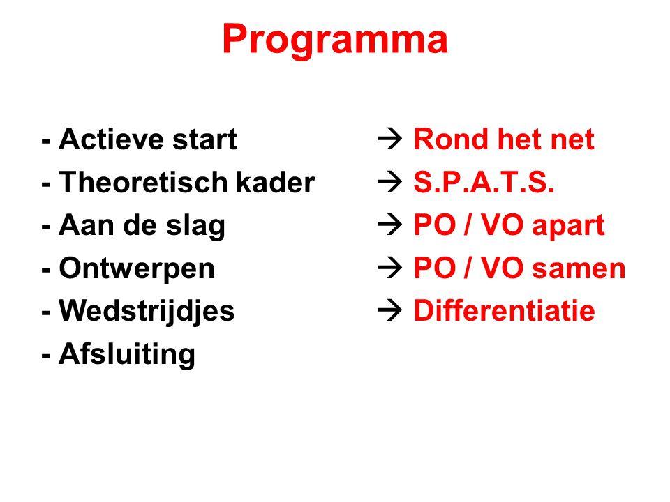Programma - Actieve start  Rond het net