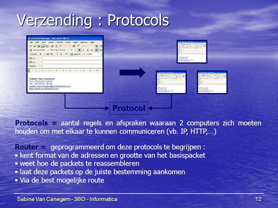 Verzending : Protocols