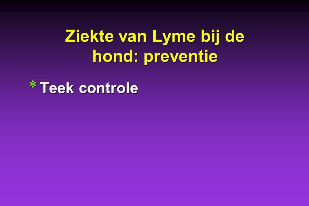 Ziekte van Lyme bij de hond: preventie