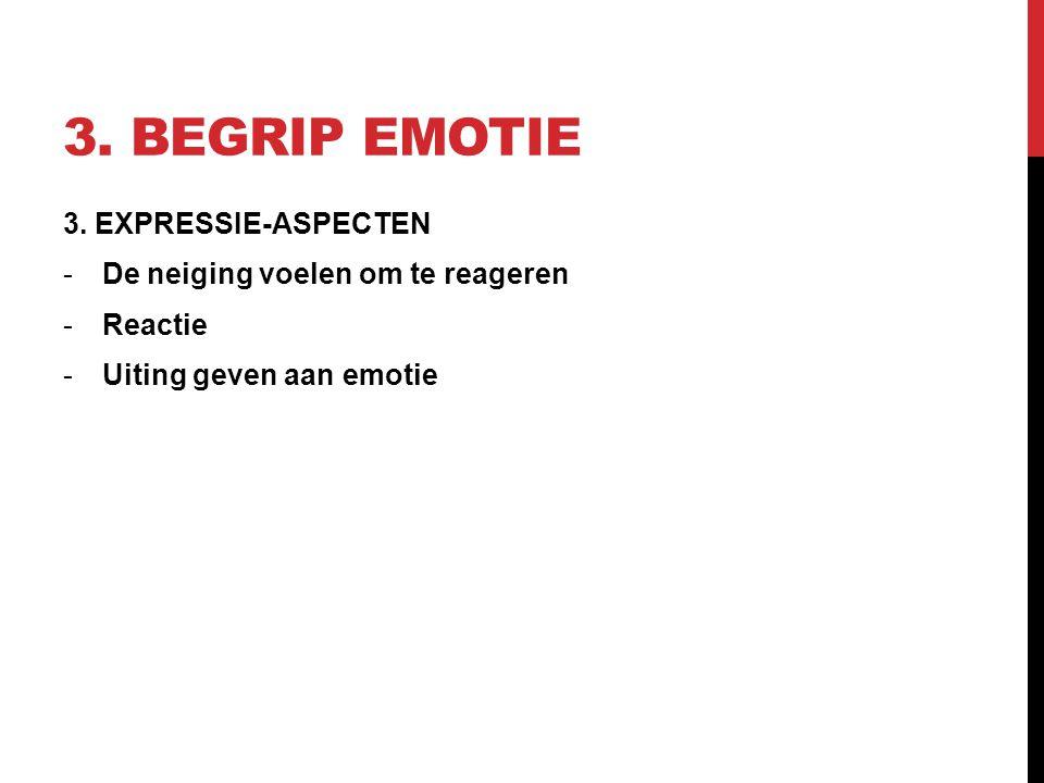 3. Begrip emotie 3. EXPRESSIE-ASPECTEN