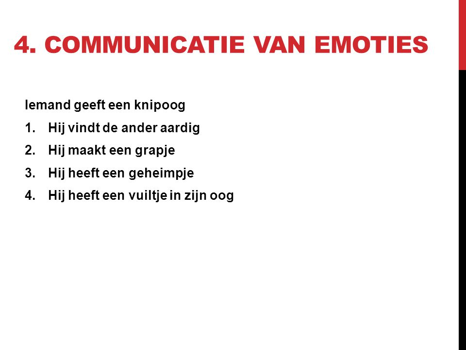 4. Communicatie van emoties