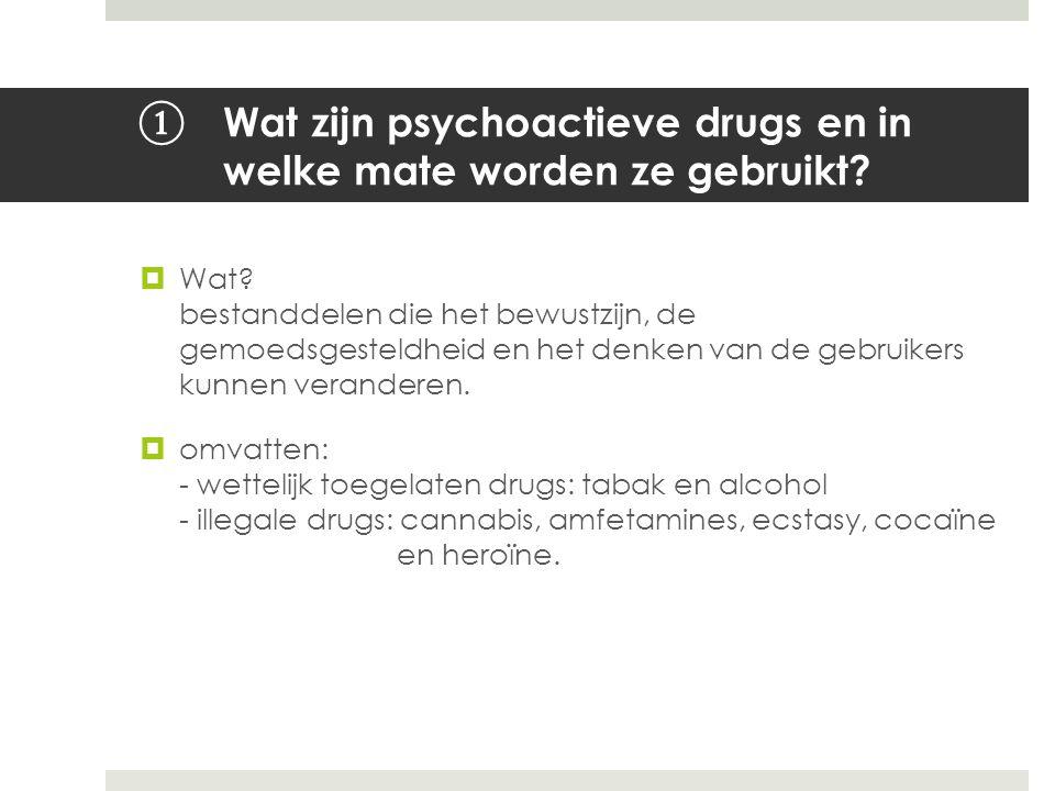 Wat zijn psychoactieve drugs en in welke mate worden ze gebruikt