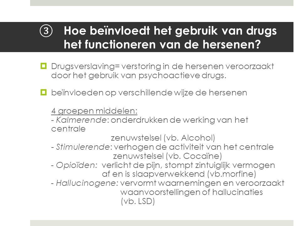 Hoe beïnvloedt het gebruik van drugs het functioneren van de hersenen