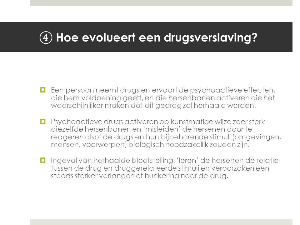 Hoe evolueert een drugsverslaving