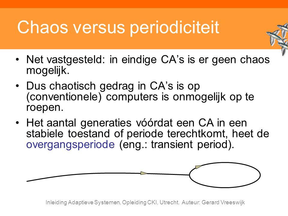 Chaos versus periodiciteit