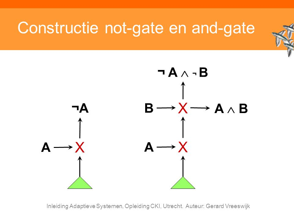 Constructie not-gate en and-gate